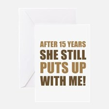 15th Anniversary Humor For Men Greeting Card