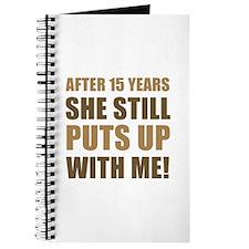 15th Anniversary Humor For Men Journal