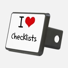 I love Checklists Hitch Cover
