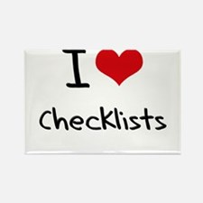 I love Checklists Rectangle Magnet
