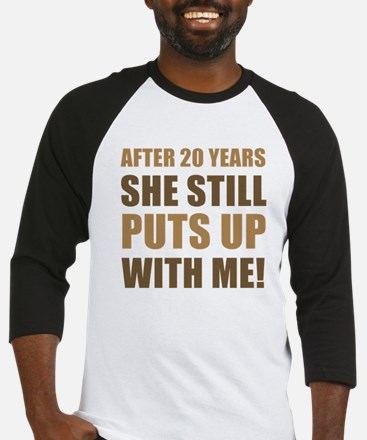 20th Anniversary Humor For Men Baseball Jersey