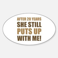 20th Anniversary Humor For Men Decal
