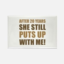 20th Anniversary Humor For Men Rectangle Magnet