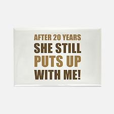 20th Anniversary Humor For Men Rectangle Magnet (1