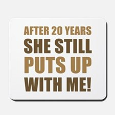 20th Anniversary Humor For Men Mousepad