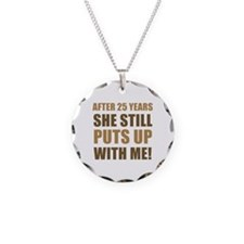 25th Anniversary Humor For Men Necklace