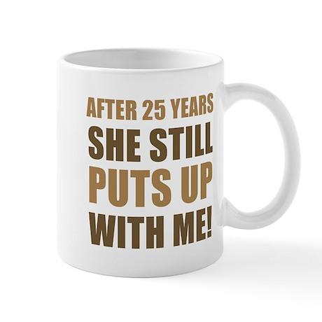 25th Anniversary Humor For Men Mug