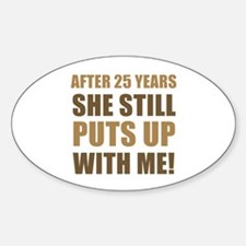 25th Anniversary Humor For Men Decal