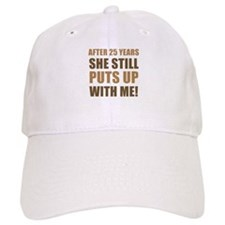 25th Anniversary Humor For Men Baseball Cap