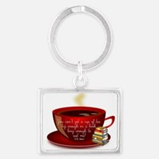 Tea Quote Landscape Keychain