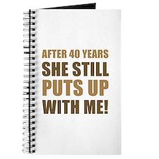 40th Anniversary Humor For Men Journal