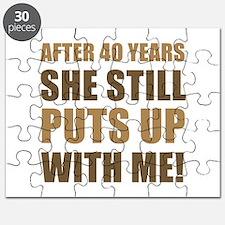 40th Anniversary Humor For Men Puzzle