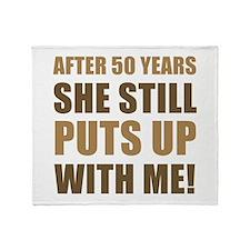 50th Anniversary Humor For Men Throw Blanket
