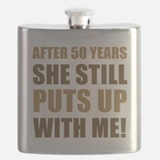 50th Anniversary Humor For Men Flask