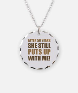 50th Anniversary Humor For Men Necklace