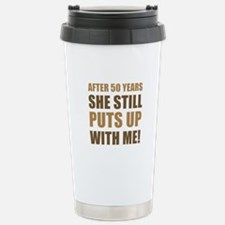 50th Anniversary Humor For Men Travel Mug