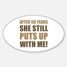 50th Anniversary Humor For Men Decal