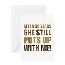 50th Anniversary Humor For Men Greeting Card
