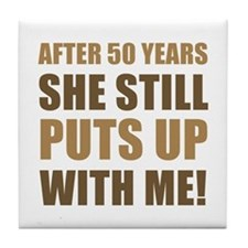 50th Anniversary Humor For Men Tile Coaster