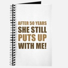50th Anniversary Humor For Men Journal