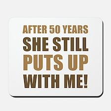 50th Anniversary Humor For Men Mousepad