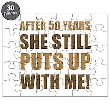 50th Anniversary Humor For Men Puzzle