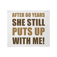 60th Anniversary Humor For Men Throw Blanket