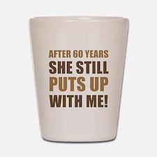 60th Anniversary Humor For Men Shot Glass