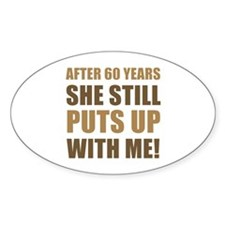 60th Anniversary Humor For Men Decal
