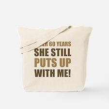60th Anniversary Humor For Men Tote Bag