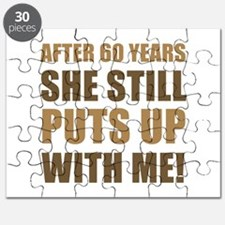 60th Anniversary Humor For Men Puzzle