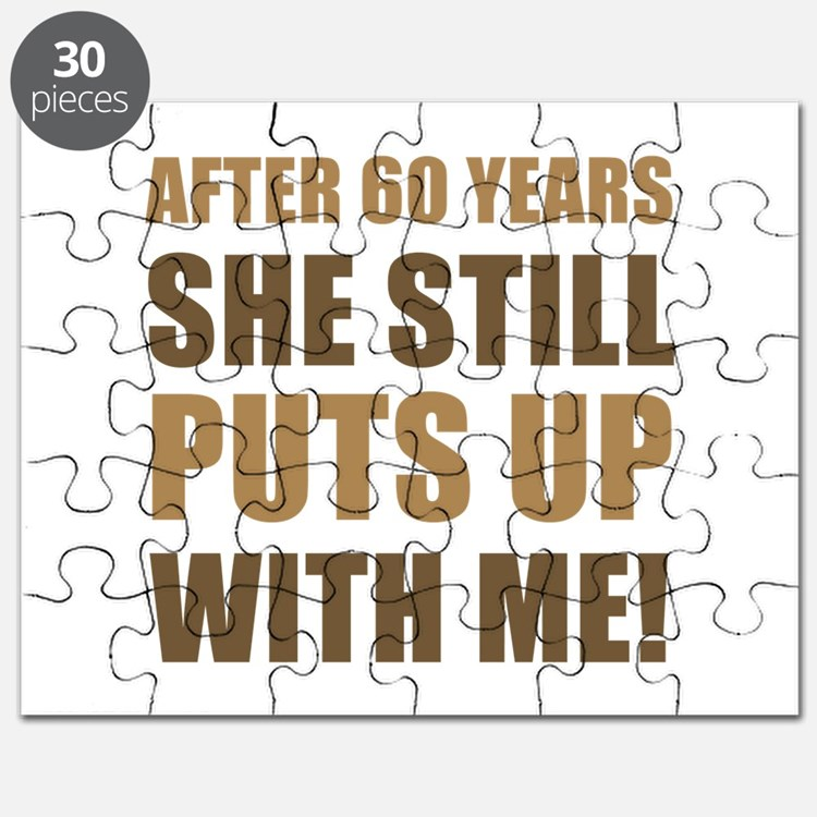 60th Anniversary Humor For Men Puzzle