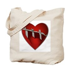 Broke, Screaming Caged Heart Tote Bag