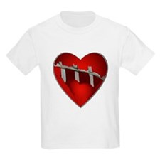 Broke, Screaming Caged Heart Kids T-Shirt