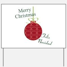 Merry Christmas Feliz Navidad Yard Sign