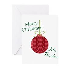 Merry Christmas Feliz Navidad Greeting Cards (Pk o