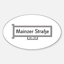 Mainzer Strasse, Berlin Oval Decal