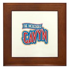 The Incredible Gavyn Framed Tile