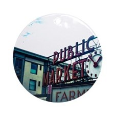 Pike Place Market Ornament (Round)