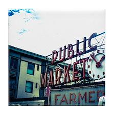 Pike Place Market Tile Coaster