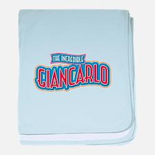 The Incredible Giancarlo baby blanket