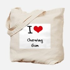 I love Chewing Gum Tote Bag