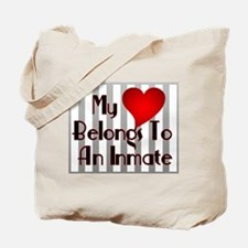 Heart Belongs to Inmate Tote Bag