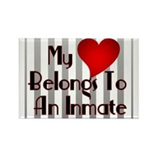 Heart Belongs to Inmate Rectangle Magnet