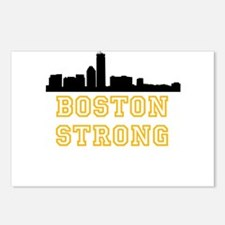 BOSTON STRONG GOLD AND BLACK Postcards (Package of