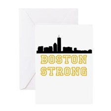 BOSTON STRONG GOLD AND BLACK Greeting Card