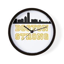 BOSTON STRONG GOLD AND BLACK Wall Clock