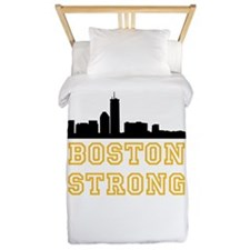 BOSTON STRONG GOLD AND BLACK Twin Duvet
