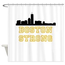 BOSTON STRONG GOLD AND BLACK Shower Curtain
