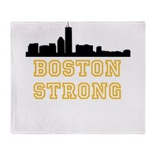 BOSTON STRONG GOLD AND BLACK Throw Blanket